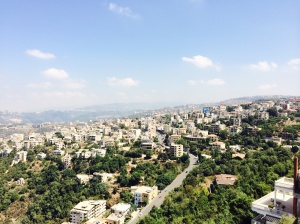 The town of Aley, on Mount Lebanon